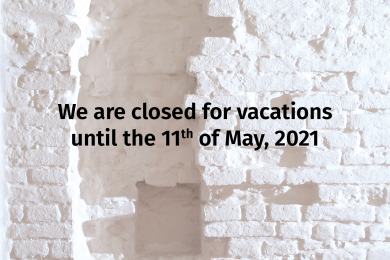 We are closed for vacations